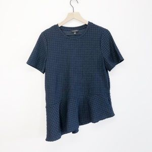 Banana Republic Blue T-Shirt Blouse Asymmetrical